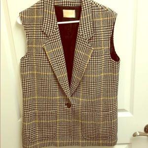 Vintage Pendleton Wool Dog Tooth Plaid Vest